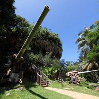 ラストコマンドポスト。サイパン島には太平洋戦争の戦争史跡が今もなお多く残る。