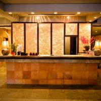 ハナミツホテル&スパのレセプション