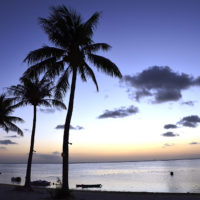 カノアリゾート サイパンのビーチから見る夕やけ