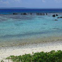 オブジャンビーチはダイビングのビーチエントリーポイントとしても人気