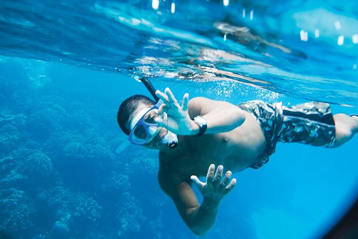 透明度抜群なサイパンの海。スキューバダイビングや体験ダイビングで誰もが簡単に体験できます。