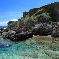 禁断の島の天然プール