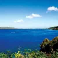 ロタ島の海は驚くほどうつくしい青色