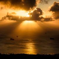 タポチョ山からの眺望(夕焼け)