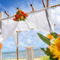 マリアナのビーチウェディング「アクアリゾートビーチウエディング 」