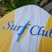 サーフクラブ サイパン サーフボードのようなメニューがかわいい
