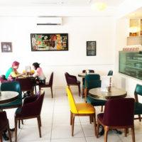 カラフルな店内がかわいいサンシャインカフェ(ガラパン地区/サイパン島)