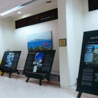サイパン国際空港の歴史を紹介する展示パネル