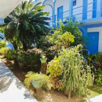 テニアン島のロリリンズホテルには中庭がある