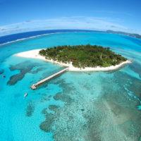 マニャガハ島を上空から見た様子