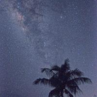 グロットの展望台から見る天の川