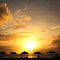 マイクロビーチの夕焼け