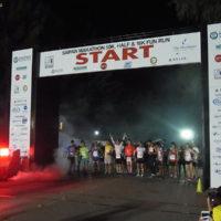 サイパンマラソン2018 スタートを待つランナーたち。日の出前でまだ暗い。