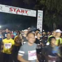 サイパンマラソン2018 スタート直後の様子。400名を超すランナーが一斉にスタートした10km