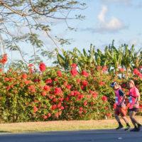 サイパンマラソン2018 サイパン島北部を走るフルマラソンランナー