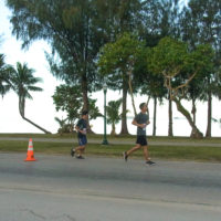 サイパンマラソン2018 海沿いコースを走るランナーたち