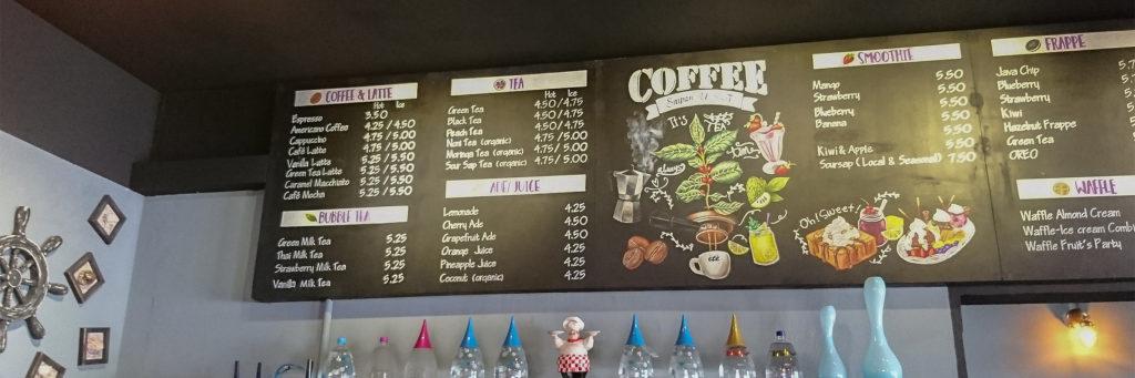 エテカフェ(ete cafe)は2018年3月にガラパンにオープンしたばかりのおしゃれなカフェ
