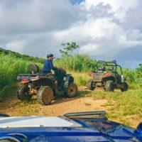 サイパン島にはジャングルもある。バギーを操りオフロードを体験