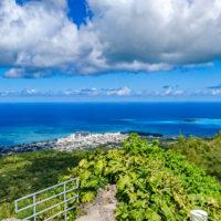 タポチョ山展望台からの眺め(ガラパン、マイクロビーチ、マニャガハ島方面)